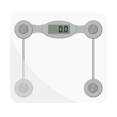 bathroom weight scale: Bathroom scales. Bathroom digital scale vector isolated. Weight loss, glass scales, floor scale