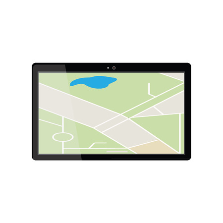 gps device: Tablet with gps navigaton. Gps device. Navigation map. Gps navigator