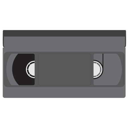 video cassette tape: Black retro video tape, vhs tape, video cassette vector isolated Illustration
