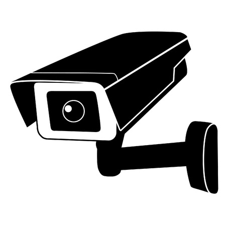 Surveillance camera vector icon. Surveillance monitors. Camera cctv, security camera Çizim