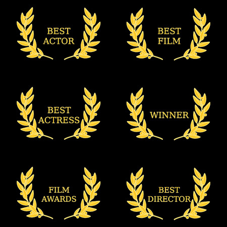 awarded: Film awards  best actor, best actress, film awards, best director, best film, winner. Film festival, movie awards, olive brunch