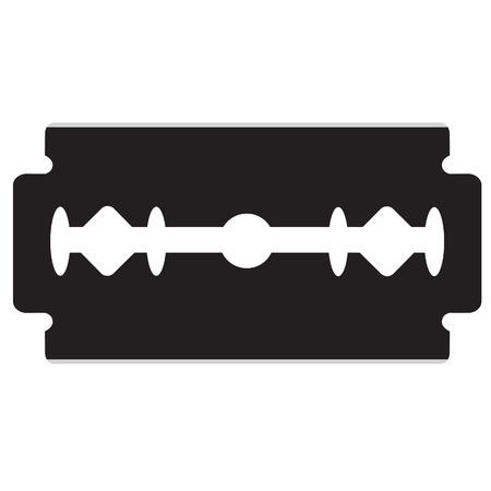 razor blade: Razor blade vector illustration. Black silhouette razor blade icon