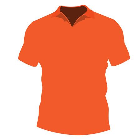 tshirt design: Orange t-shirt template vector illustration. T-shirt design, t-shirt model