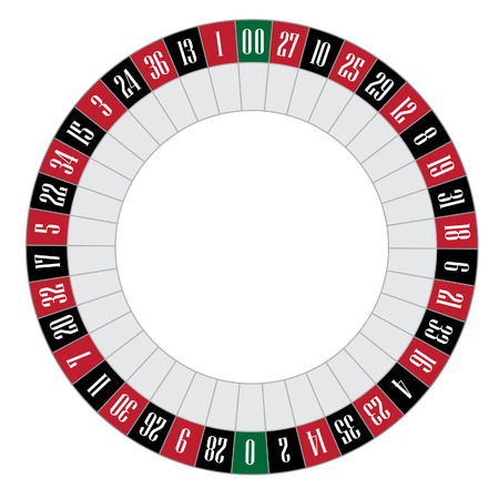 American roulette vector illustration. Roulette wheel. Gambling game