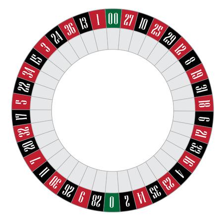Amerikanische Roulette-Vektor-Illustration. Roulette-Rad. Glücksspiel Standard-Bild - 44024012