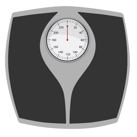 Bathroom scales vector isolated. Floor weight scales. Weighing scales.Weight loss