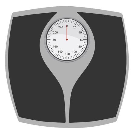 Bathroom scales vector isolated. Floor weight scales. Weighing scales.Weight loss