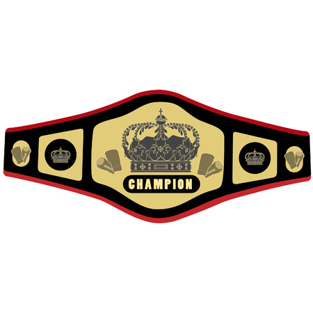 championship: Boxing belt vector illustration. Competition belt. Golden champion belt. Championship belt icon Illustration
