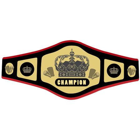 Boxing riem vector illustratie. Concurrentie riem. Golden kampioen riem. Championship pictogram riem