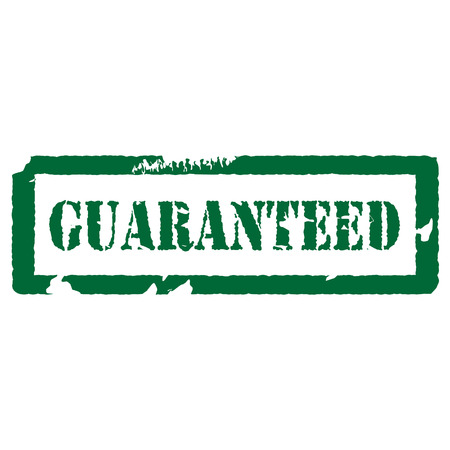 guarantee stamp: Green rubber stamp guaranteed vector illustration. Guarantee stamp. Guarantee icon