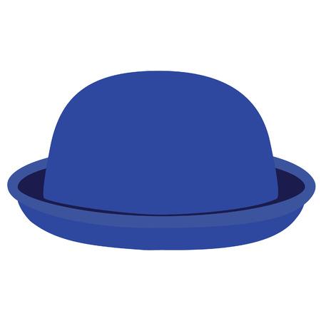 bouliste: Bleu femme chapeau melon. Chapeau de Derby. Mode, glamour chapeau d'hiver