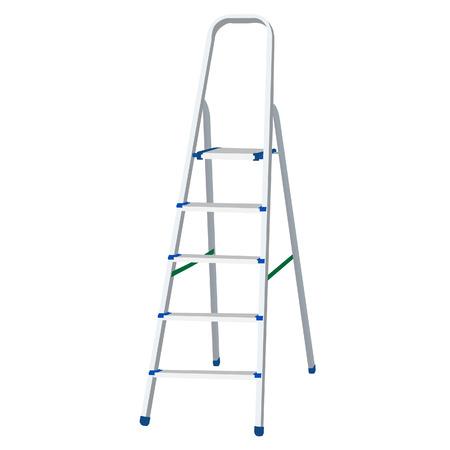 stepladder: Metal step ladder vector illustration. Climbing ladder. Ladder of success Illustration