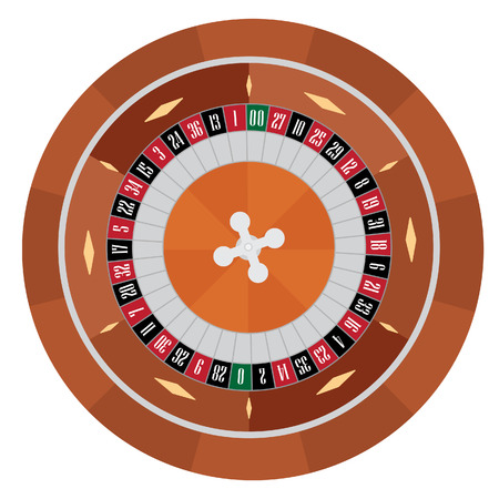 american roulette: American roulette vector illustration. Roulette wheel. Gambling game. Casino roulette wheel