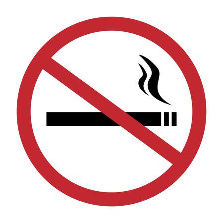 Round no smoking sign, quit smoking, smoke free, no smoking icon vector illustration Illustration