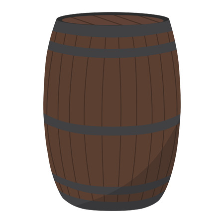 tonneau de bi�re: Bois vecteur baril illustration. Tonneau de bi�re ou de vin baril. Barrel � partir de ch�ne