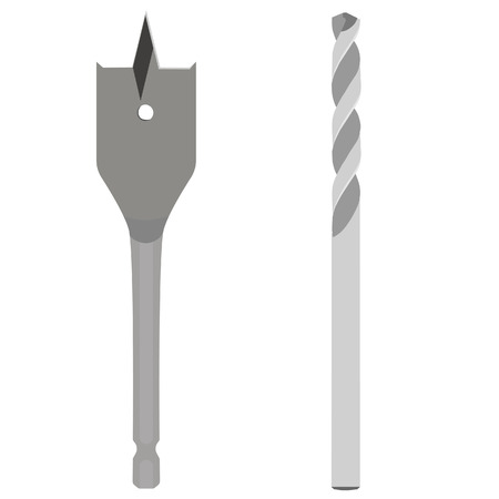 bit: Drill bit, drill bit isolated, drill bit vector. Drill bit for wood