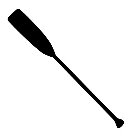 Black silhouette rowing oar vector isolated. Boat oar. Water sport 向量圖像