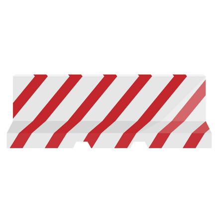 blocco stradale: Barriera della strada a strisce rosso e nero illustrazione vettoriale. Barriera di traffico. Blocco stradale.