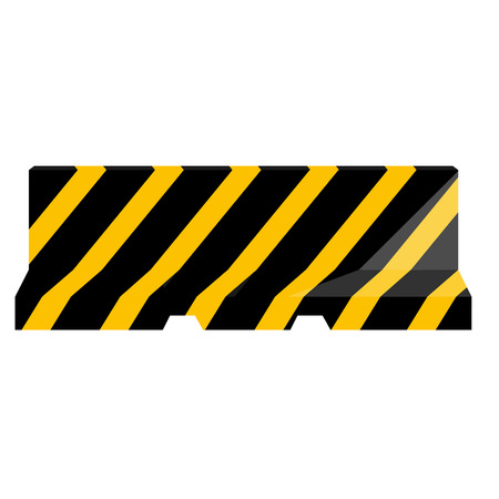 road barrier: Road barrier striped black and yellow vector illustration. Traffic barrier. Road block. Illustration