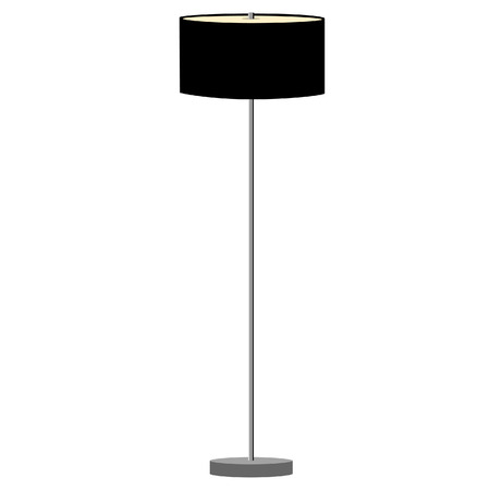 lamp shade: Black standing lamp vector illustration. Floor lamp. Modern lamp