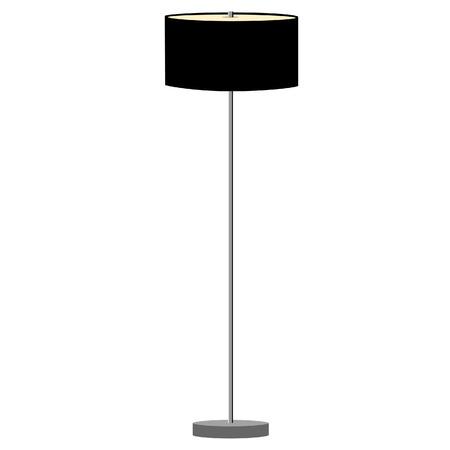 Black standing lamp vector illustration. Floor lamp. Modern lamp