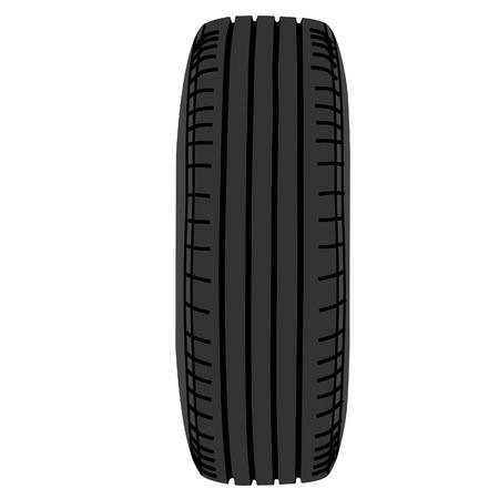 car tire: Vector illustration of car wheel. Transport wheel. Car tire Stock Illustratie