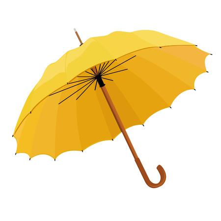 umbrella: Yellow opened umbrella vector illustration. Umbrella rain, umbrella icon Illustration