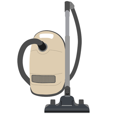 home appliances: Vacuum cleaner vector illustration. Old vacuum cleaner. Home appliances. Cleaning icons
