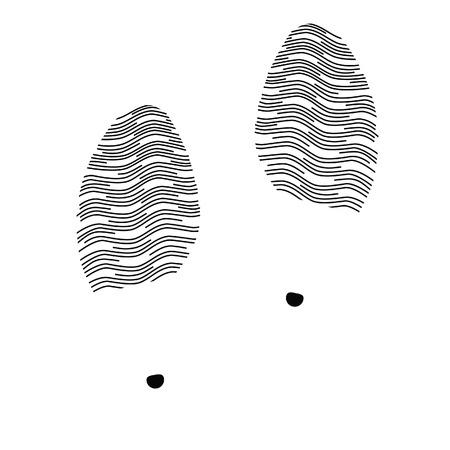 shoe print: Woman shoe print vector illustration. Soles shoe