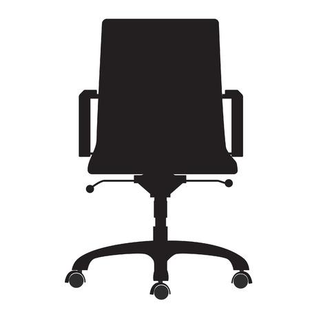 sedia ufficio: Sedia ufficio moderno nero silhouette vettoriali. Mobili da ufficio Vettoriali