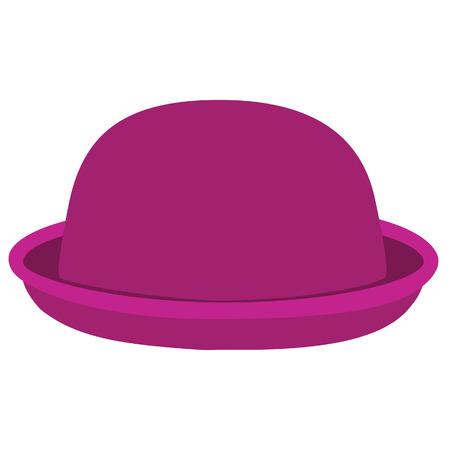 winter hat: Pink woman bowler hat. Derby hat. Fashion, glamour winter hat