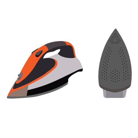 plancha de vapor: Hierro el�ctrico, hierro aislado, ilustraci�n vectorial hierro, plancha de ropa, plancha de vapor. Icono Plancha de vapor