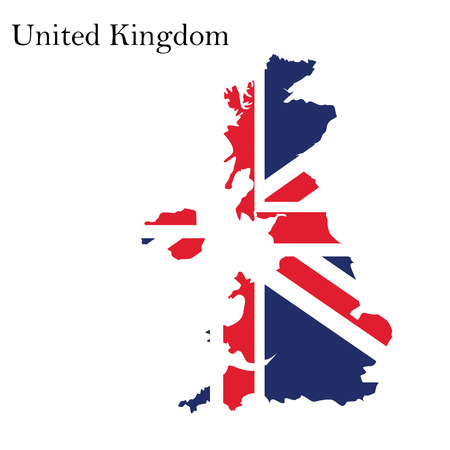 uk map: Vector illustration uk map with flag. England map. United Kingdom of Great Britain. Uk map counties