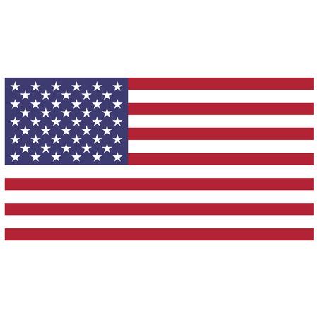 Vector illustratie van usa vlag. Rechthoekige nationale vlag van de Verenigde Staten. Vlag van de Verenigde Staten van Amerika. Onafhankelijkheidsdag