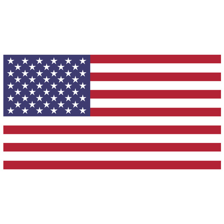 Vector illustration of usa flag. Rectangular national flag of usa. Flag of United States of America.  Independence day Ilustração