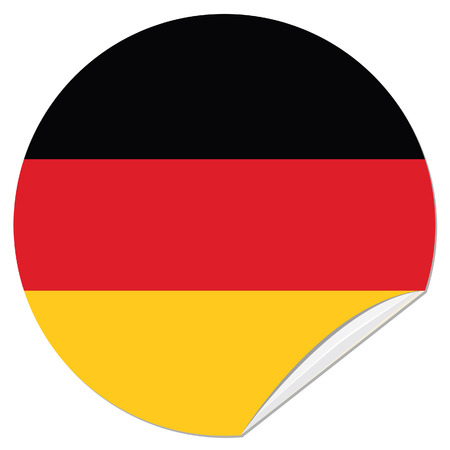 german flag: Round german flag vector icon isolated, german flag button. Vector illustration flag of germany sticker Illustration