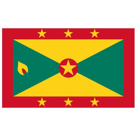grenada: Vector illustration of grenada flag. Rectangular national flag of grenada Illustration