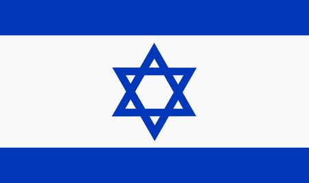 israel flag: Vector illustration of israel flag. Rectangular national flag of israel with david star. Israelian flag