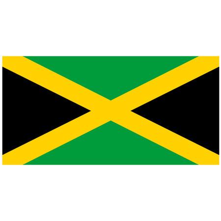 jamaican flag: Vector illustration of jamaica flag. Rectangular national flag of jamaica. Jamaican flag