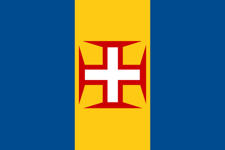 madeira: Vector illustration of madeira flag. Rectangular national flag of  madeira. Madeirian flag