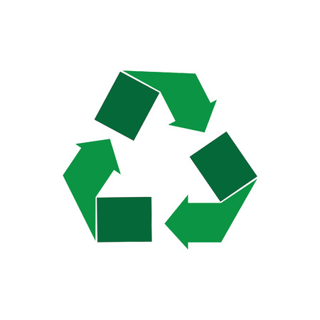 recycle sign: Green recycle sign vector isolated icon. Recycle symbol