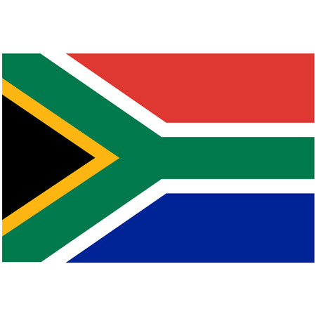 south africa flag: Vector illustration of south africa flag.  Rectangular national flag of  south africa