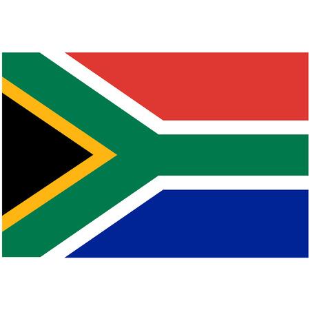 Vector illustration de drapeau de l'afrique du sud. Drapeau national rectangulaire de l'Afrique du Sud