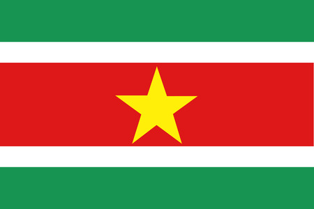 suriname: Vector illustration of suriname flag. Rectangular national flag of  suriname high detailed Illustration