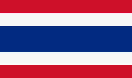 Vector illustration of thailand flag. Rectangular national flag of  thailand