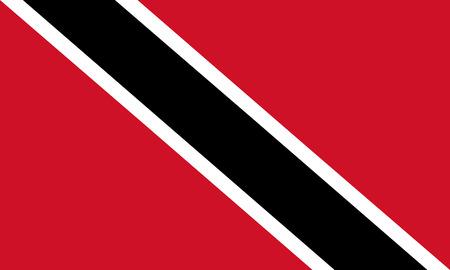 Vector illustration of thrinidad flag. Rectangular national flag of  thrinidad