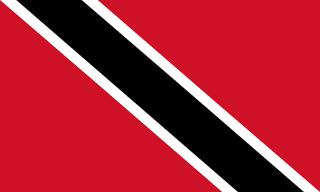national flag trinidad and tobago: Vector illustration of thrinidad flag. Rectangular national flag of  thrinidad