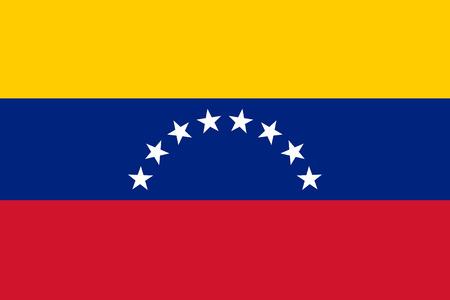 bandera de venezuela: Ilustración del vector de la bandera de Venezuela. Bandera nacional rectangular de Venezuela. Bandera Venezuelian