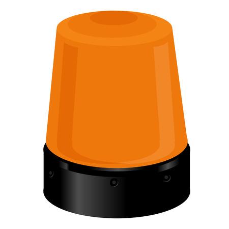 emergency light: Orange police light or emergency light. Police siren, warning Illustration
