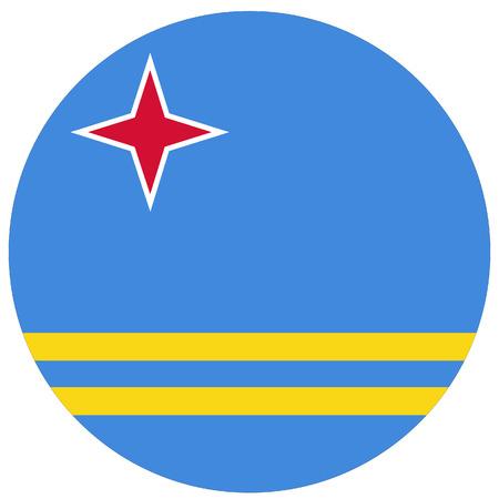 aruba flag: Vector illustration of aruba flag. Round national flag of aruba Illustration